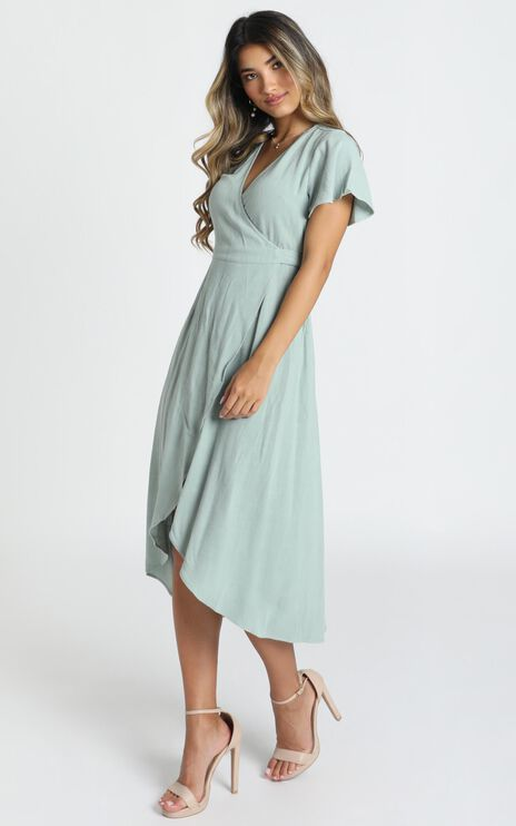 World Of Dream Dress In Sage