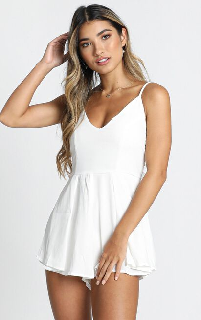 Wish You Would playsuit in white - 6 (XS), White, hi-res image number null