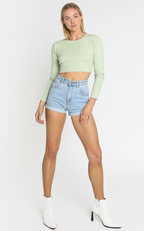 Amare Knit Top in Sage