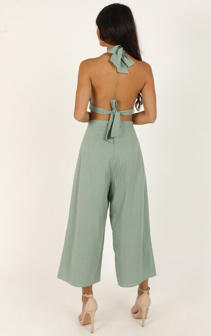 Wont Change Two Piece Set in sage linen look - 18 (XXXL), Sage, hi-res image number null