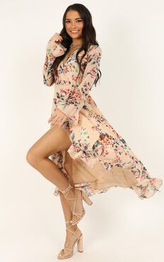 Can I Call You Dress In Blush Floral