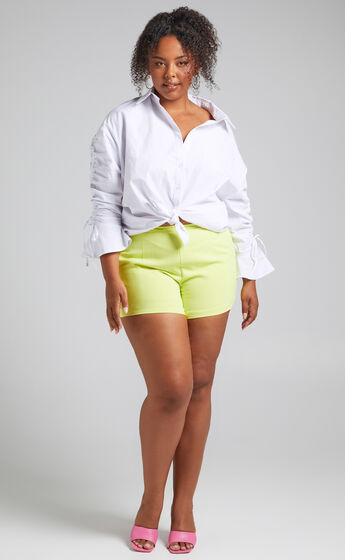 Along The Ride Shorts in Lime