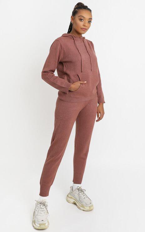 Imogen Knit Hoodie in Rust