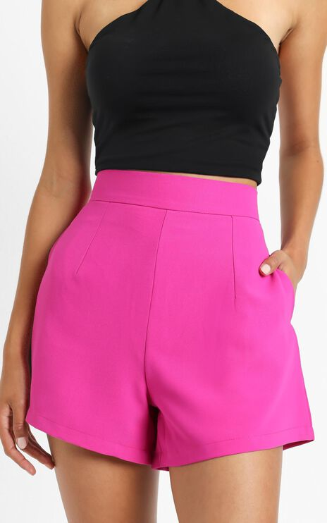 Along The Ride Shorts in Hot Pink