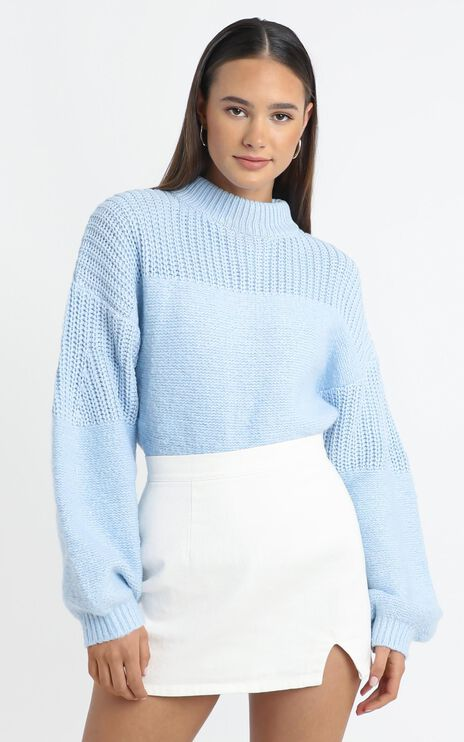 Dakota Knit Jumper in Blue