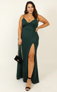 Dare To Dream Maxi Dress In Emerald
