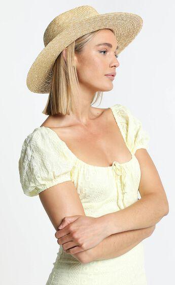 Abella Straw Hat in Beige