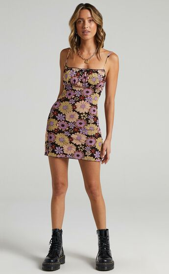 Maura Dress in Purple Floral
