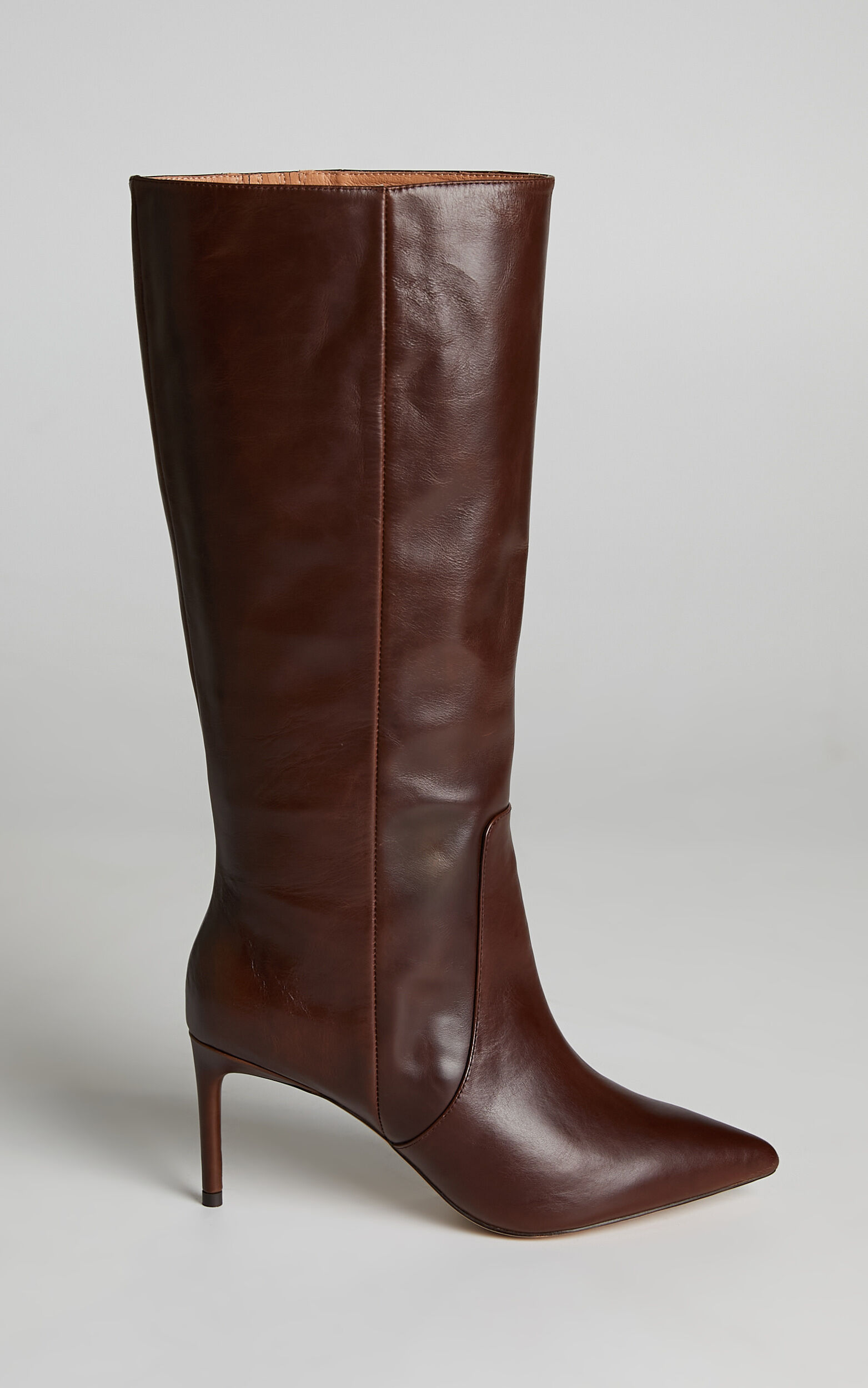 Alias Mae - Connie Boots in Choc Leather - 10.5, BRN1, super-hi-res image number null