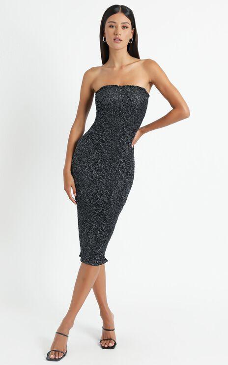 Dionelle Dress in Black Sparkle