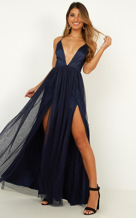 Make It Right Dress In Navy