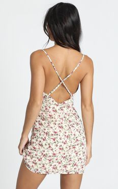 Summer Memory Dress In Cream Floral