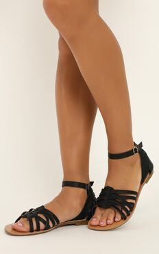 Verali - San Marco Sandals In Black Smooth