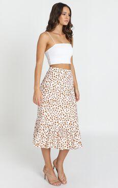 Say Something Skirt In White