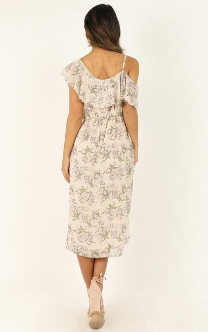 Journey To The Past Dress in cream floral - 14 (XL), Cream, hi-res image number null