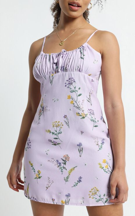 Sunday Session Dress in Lavender Botanical Floral