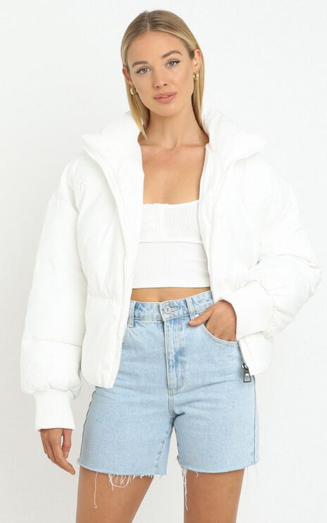 Windsor Puffer Jacket in White
