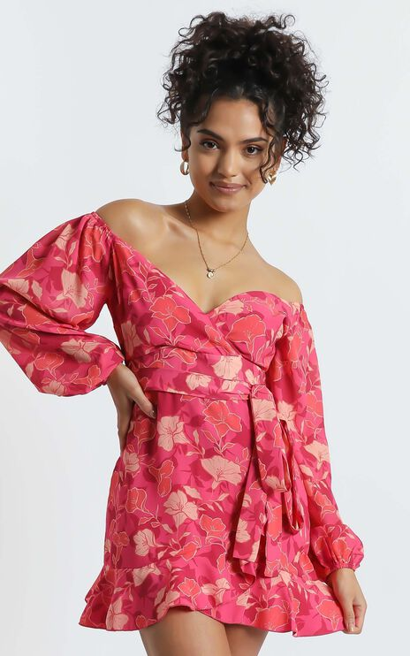 Your Sugar and Spice Dress in Berry Floral