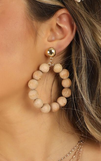Heart Of Gold Earrings In Natural, , hi-res image number null