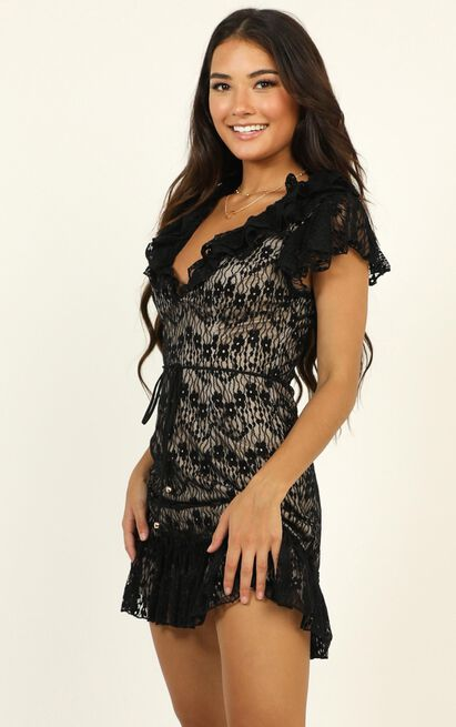 Thanks A Lot Dress in black lace - 16 (XXL), Black, hi-res image number null