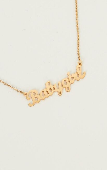 Bby Girl Necklace In Gold, , hi-res image number null