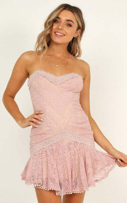 Unending Moment dress in blush lace - 12 (L), Mocha, hi-res image number null