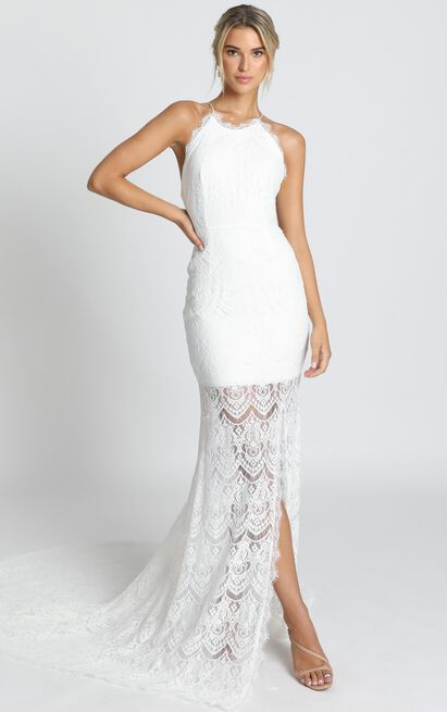 Fall In Deep Gown in ivory lace - 20 (XXXXL), Cream, hi-res image number null