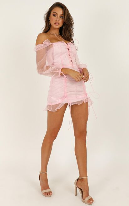 Lioness - Feng Shui Dress In Pink - 4 (XXS), Pink, hi-res image number null