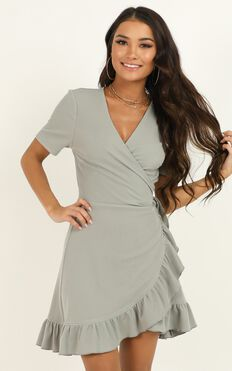 This is Happening Dress In Sage