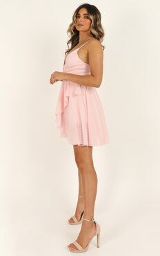 Feels Like Heaven Dress In Soft Pink