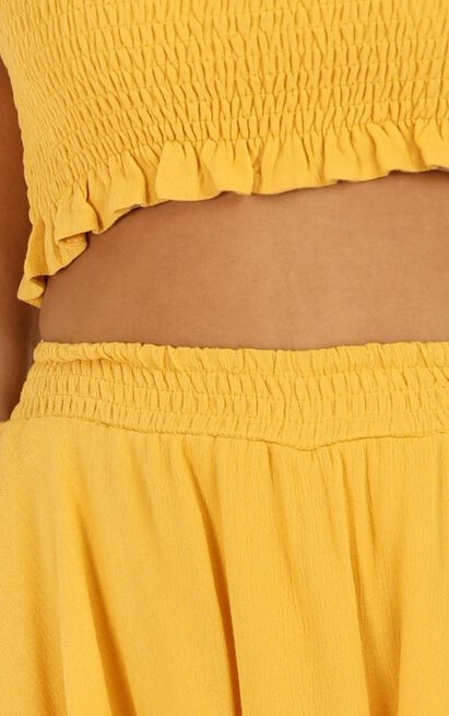 Adore you two piece set in mustard - 12 (L), Mustard, hi-res image number null