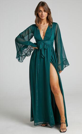 Dangerous Woman Maxi Dress in Emerald
