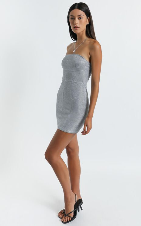 Diva Dress in Silver