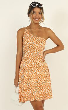 Two Is Better Than One Dress In Orange Floral
