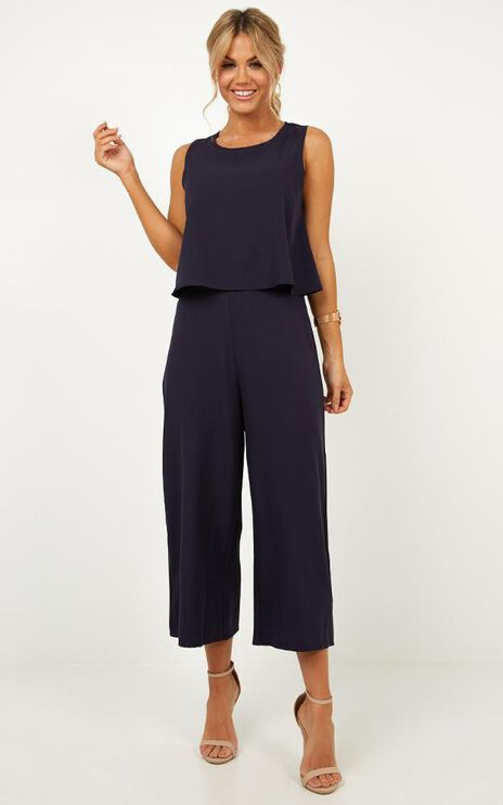All Embrace Jumpsuit In Navy