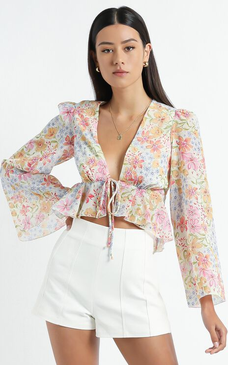 Dance It Out Top in Multi Floral