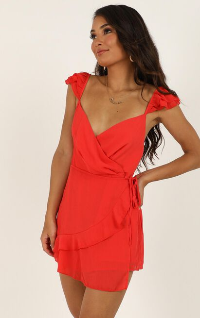 No One Id Rather Playsuit in red - 14 (XL), Red, hi-res image number null