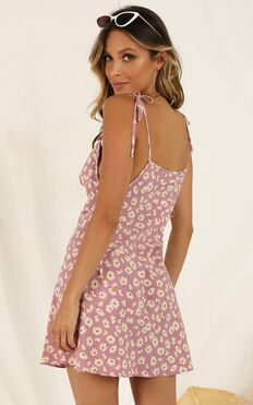 Big Confessions Dress In Pink Floral