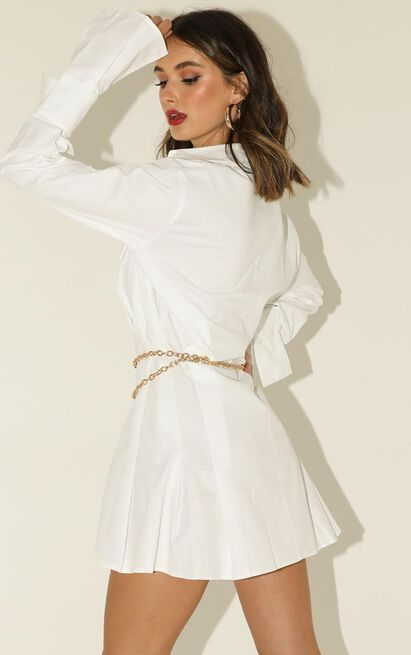 Lioness - Cover Girl Dress In White - 12 (L), White, hi-res image number null
