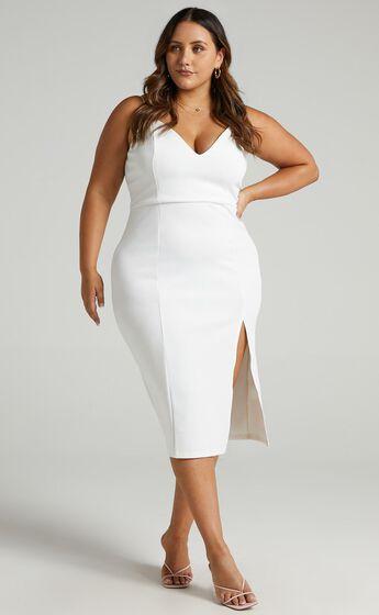 Big Ideas Midi Dress in White