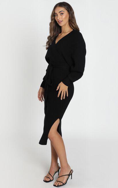 Over The World knit dress in black - 12 (L), Black, hi-res image number null