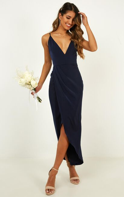 Shes a dreamer dress in navy - 20 (XXXXL), Navy, hi-res image number null