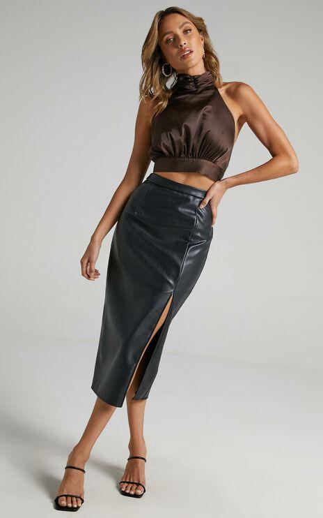Tavua Skirt in Black Leatherette