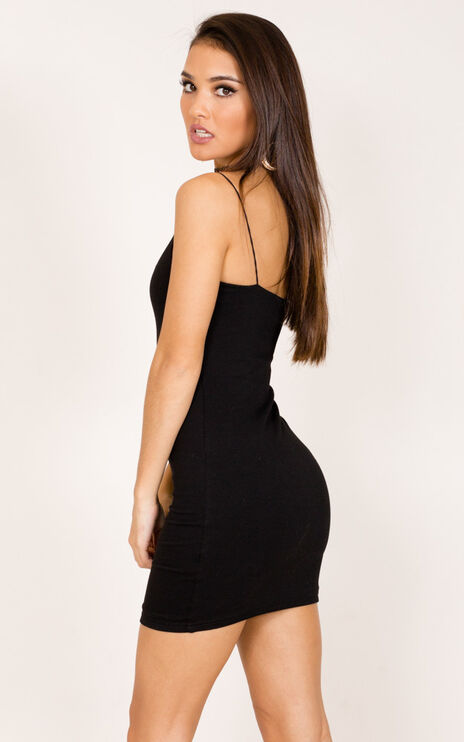 Just Float On Dress In Black