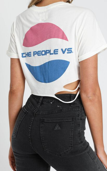 The People Vs - Pop Crop Tee - White - 6 (XS), White, hi-res image number null