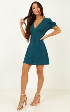Morning Vibes Dress In Emerald