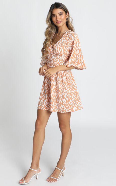 Naya Mini Dress In Rust Print