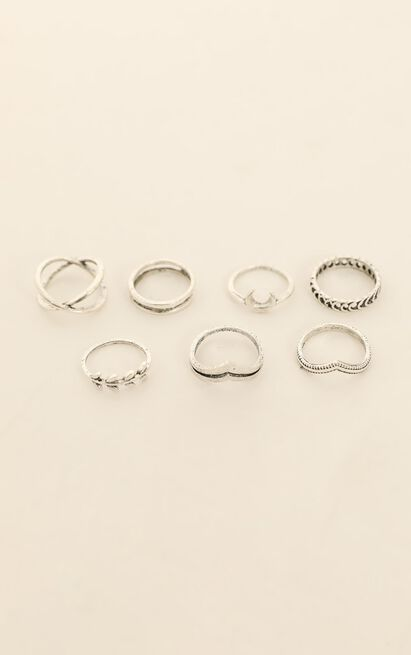 Be Your Shadow Ring Set In Silver, , hi-res image number null