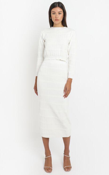 Amai Knit Skirt in White