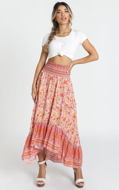 Biggest Crush Skirt In Pink Floral